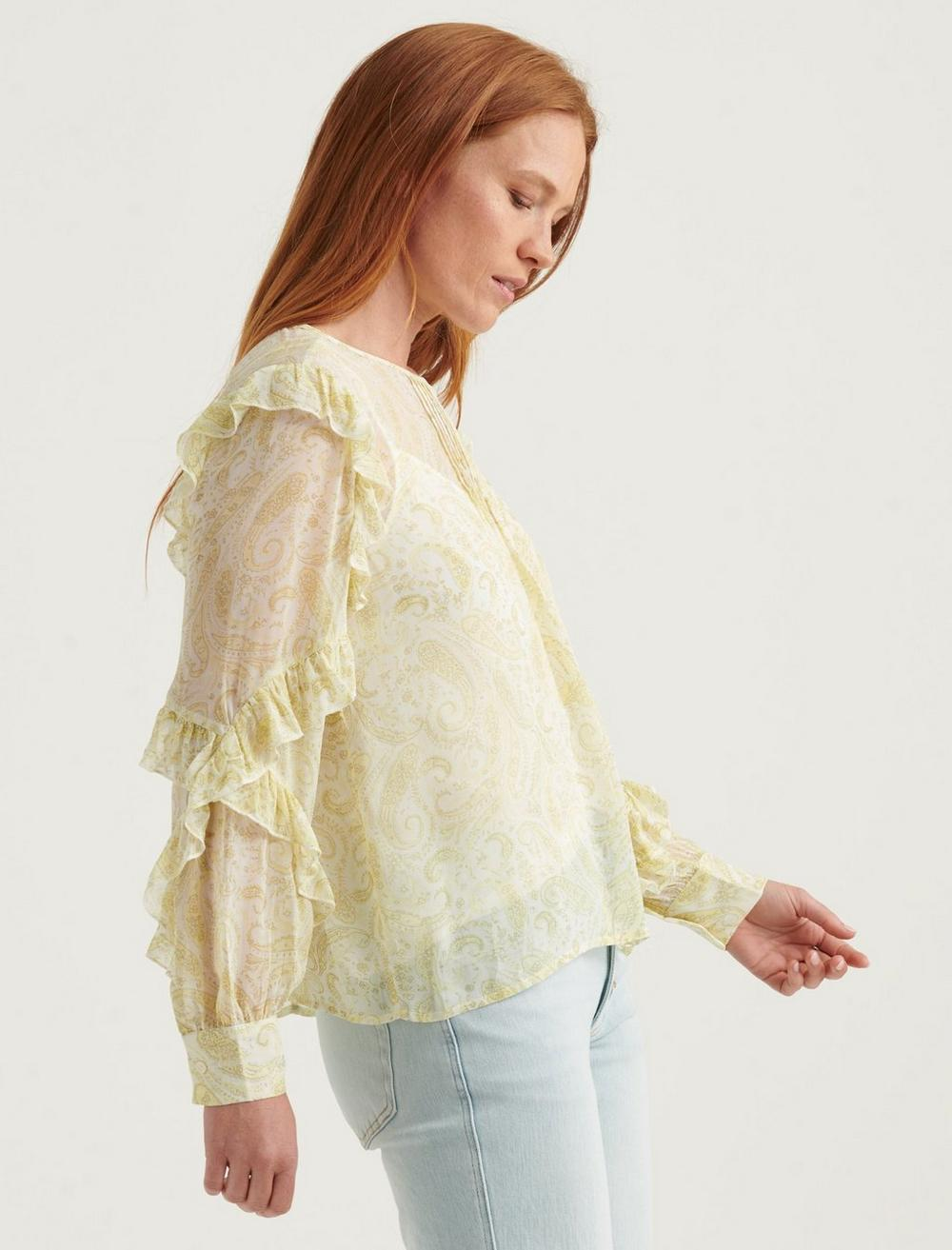 GEORGETTE RUFFLE BLOUSE TOP, image 3
