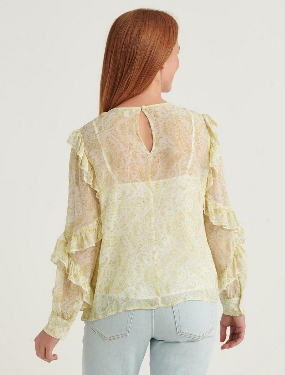GEORGETTE RUFFLE BLOUSE TOP, image 4