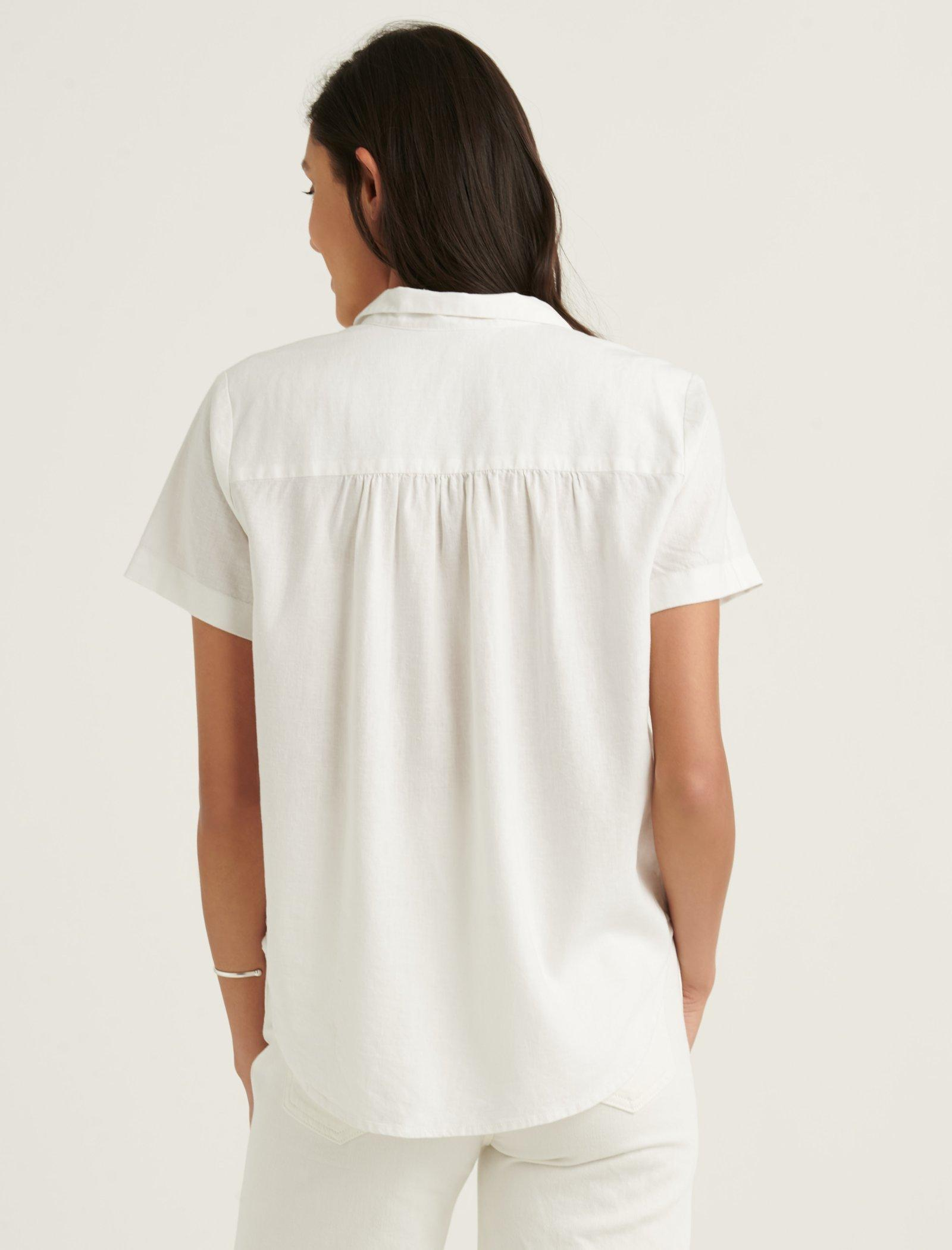 TIE FRONT SHORT SLEEVE SHIRT, image 4