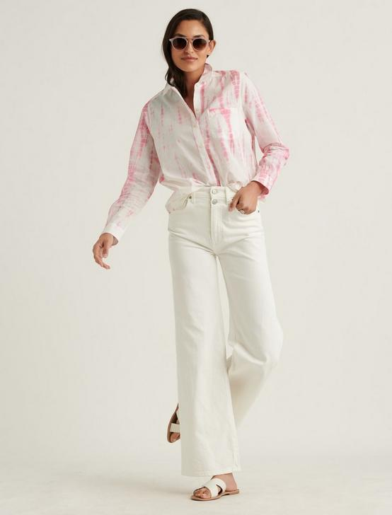 CLASSIC ONE POCKET SHIRT, PINK MULTI, productTileDesktop