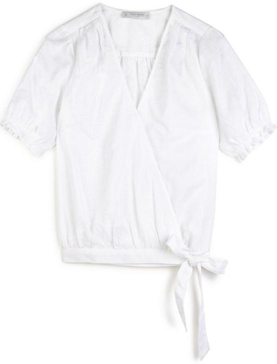 TEXTURED WRAP TOP, BRIGHT WHITE, productTileDesktop