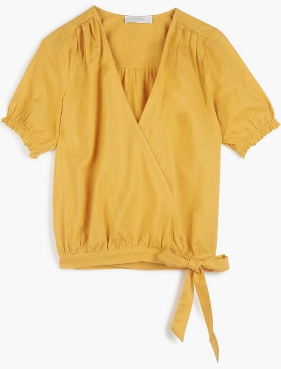 TEXTURED WRAP TOP, BRIGHT GOLD, productTileDesktop