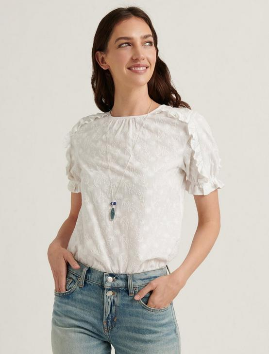 LAUREN RUFFLE TOP, LUCKY WHITE, productTileDesktop