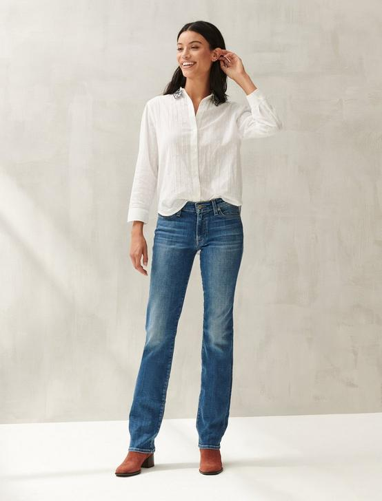 EMBROIDERED POET SHIRT, BRIGHT WHITE, productTileDesktop