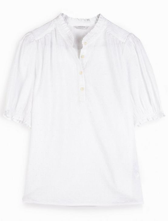 FEMININE POPOVER TOP, BRIGHT WHITE, productTileDesktop