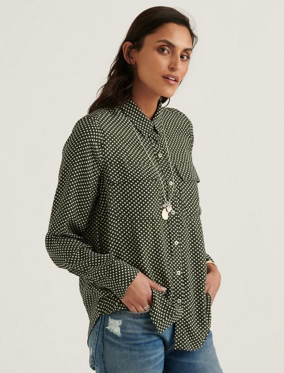 CLASSIC UTILITY SHIRT, GREEN MULTI, productTileDesktop