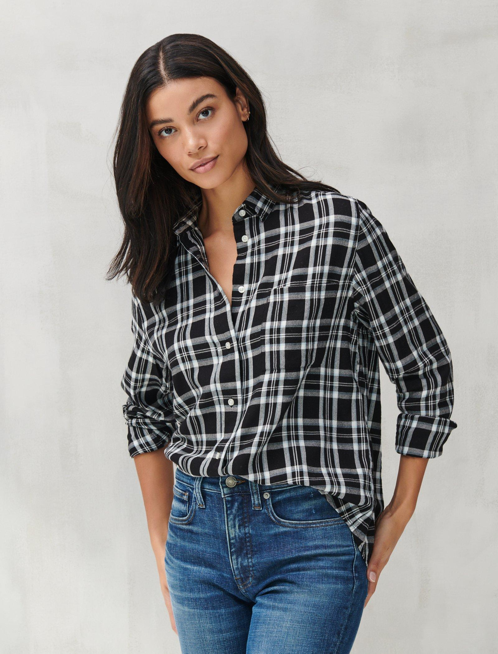 RELAXED FLANNEL SHIRT, image 1