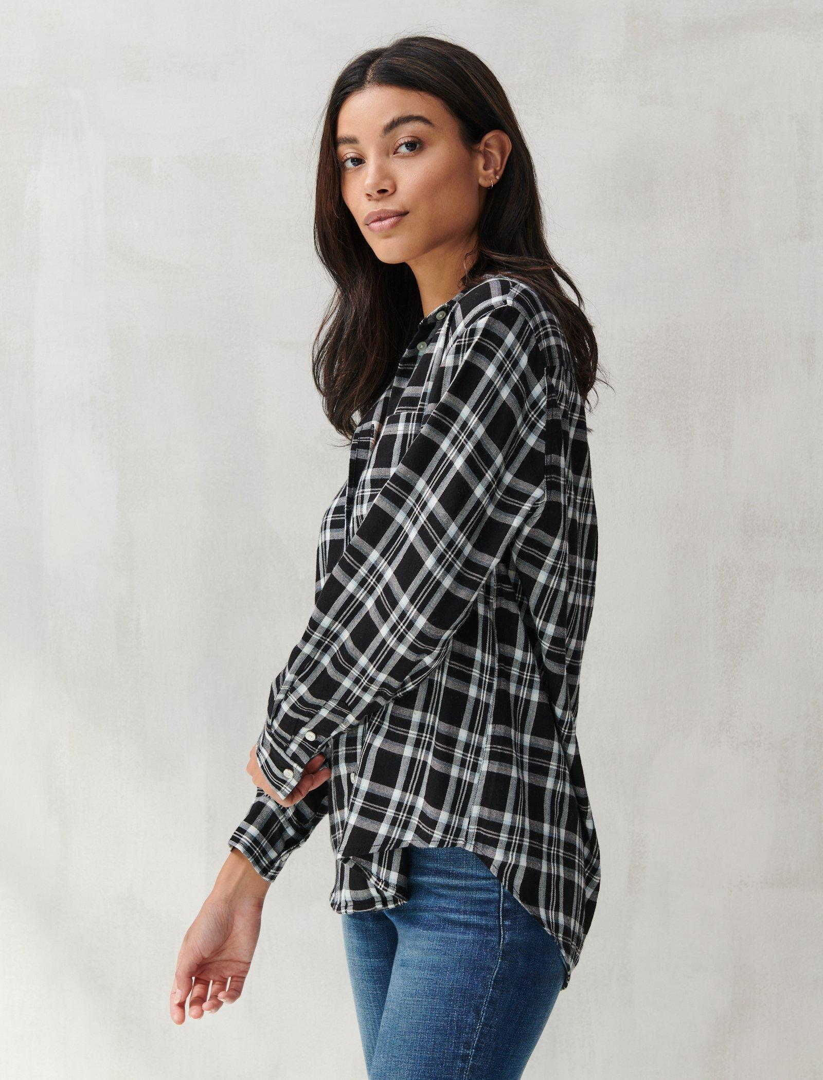 RELAXED FLANNEL SHIRT, image 3