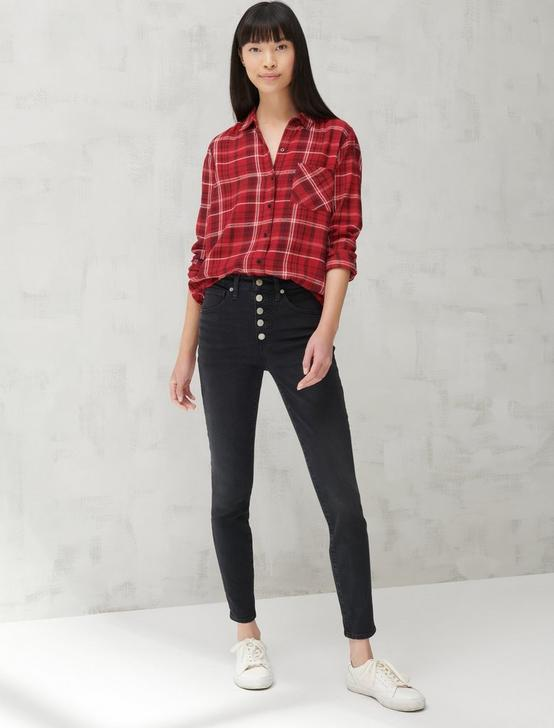 CLASSIC LUREX PLAID SHIRT, RED MULTI, productTileDesktop
