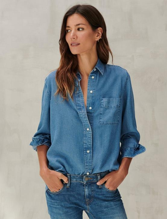 RELAXED SHIRT, CHAMBRAY BLUE, productTileDesktop