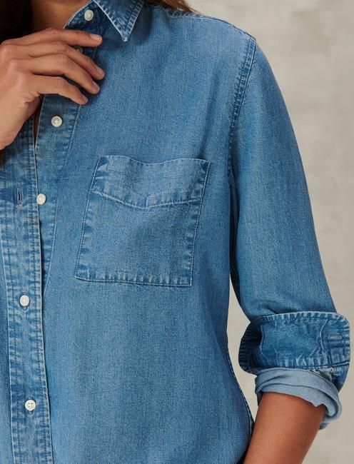 RELAXED SHIRT, CHAMBRAY BLUE