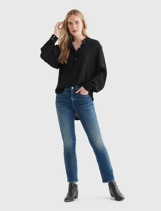 RELAXED POPOVER SHIRT, 001 LUCKY BLACK, productTileDesktop