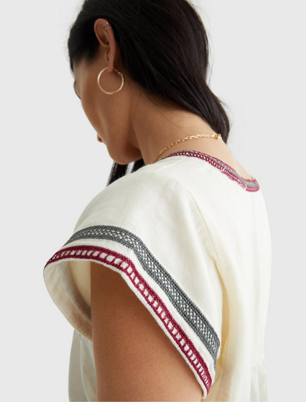 EMBROIDERED WOVEN TOP, image 5