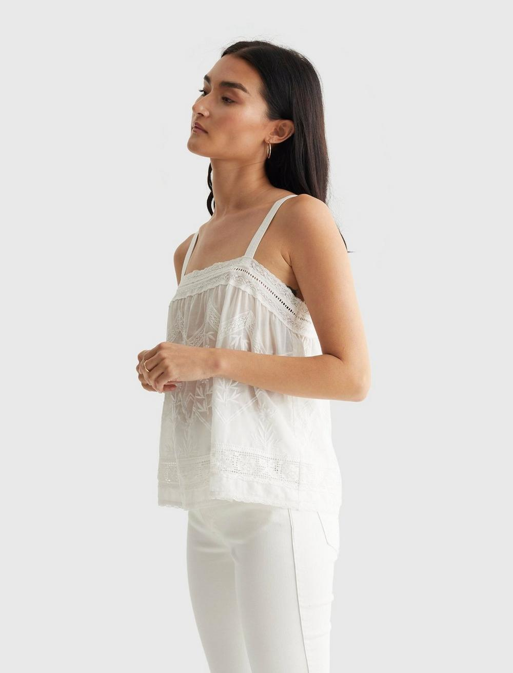 EMBROIDERED WOVEN TANK, image 3