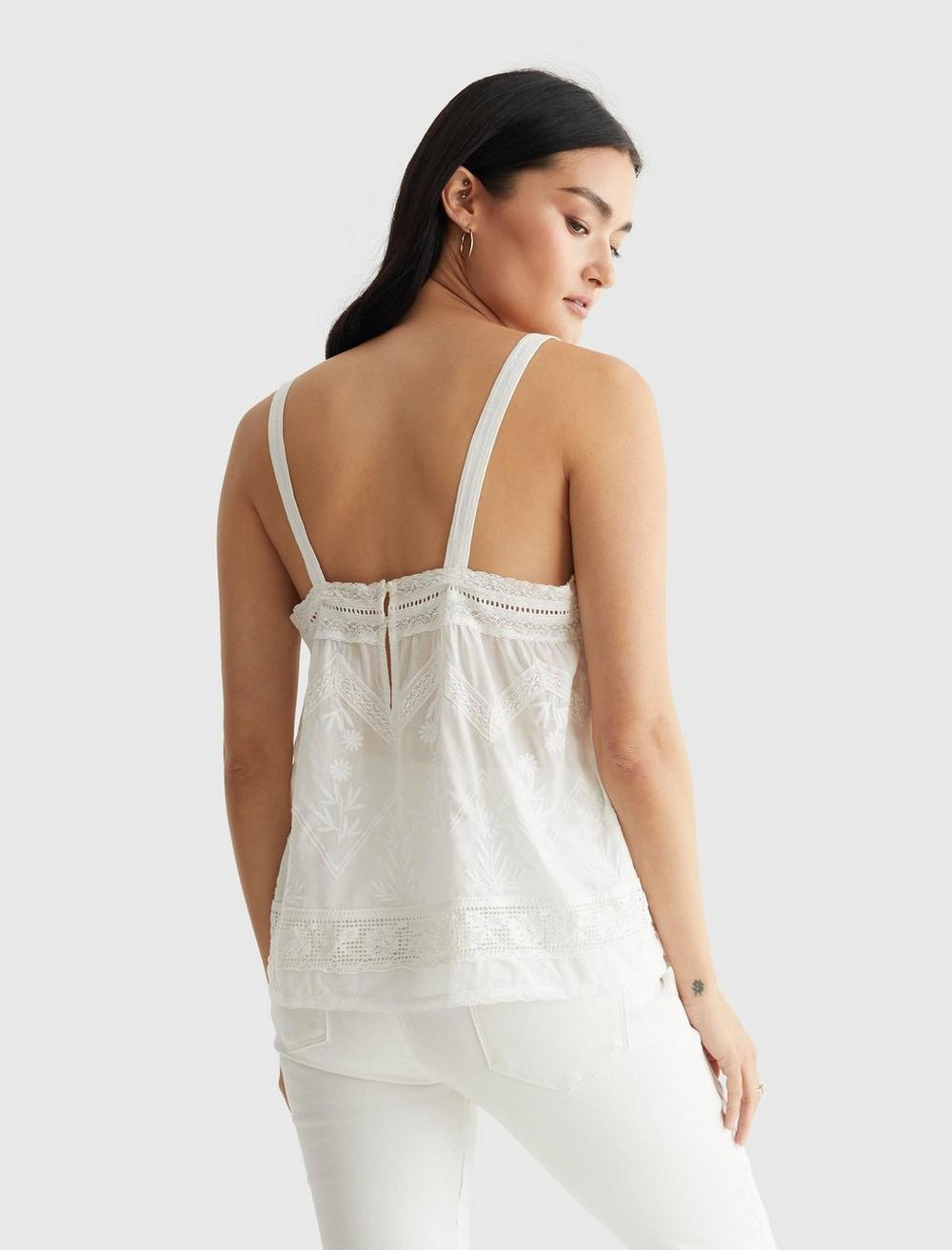 EMBROIDERED WOVEN TANK, image 4
