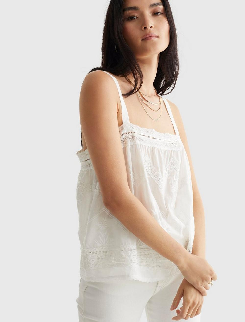 EMBROIDERED WOVEN TANK, image 6