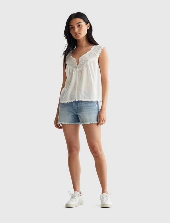 GEO EMBROIDERED TANK, CREAM, productTileDesktop