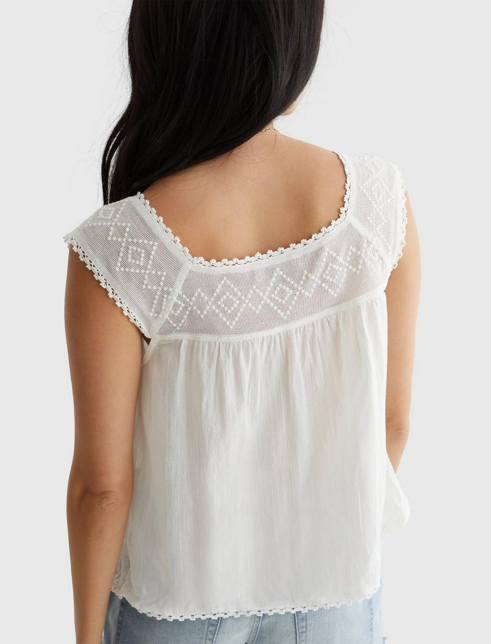 GEO EMBROIDERED TANK, image 3