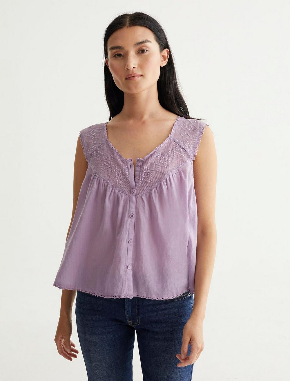 GEO EMBROIDERED TANK, image 1