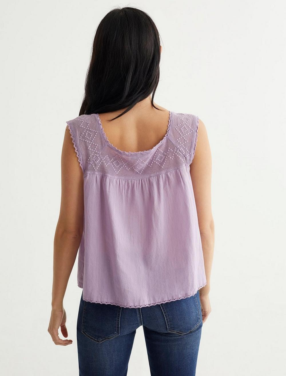 GEO EMBROIDERED TANK, image 4
