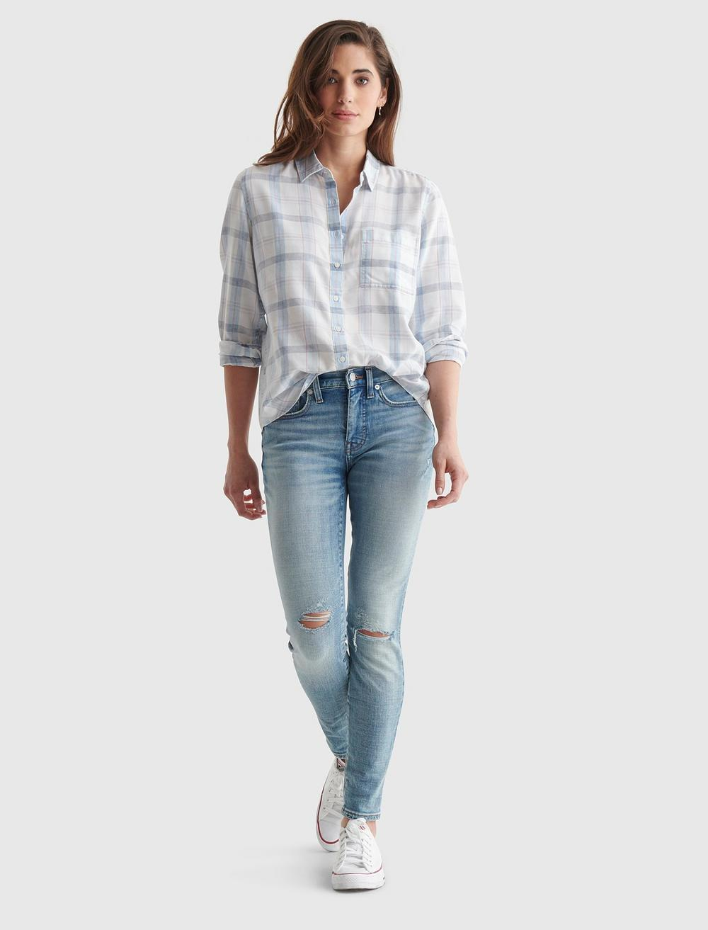 RELAXED-FIT PLAID WOVEN SHIRT, image 2