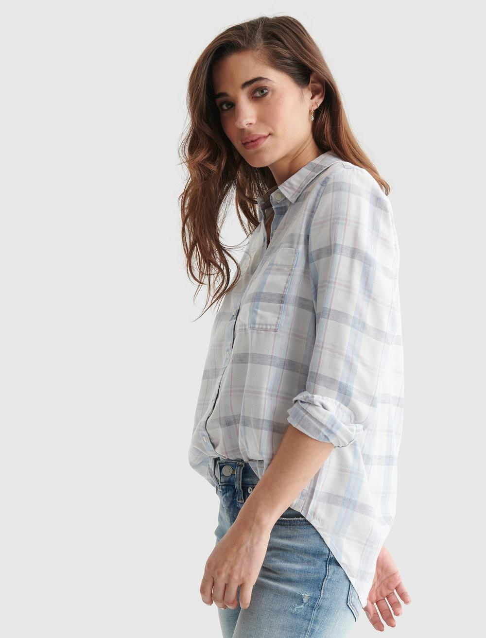 RELAXED-FIT PLAID WOVEN SHIRT, image 3