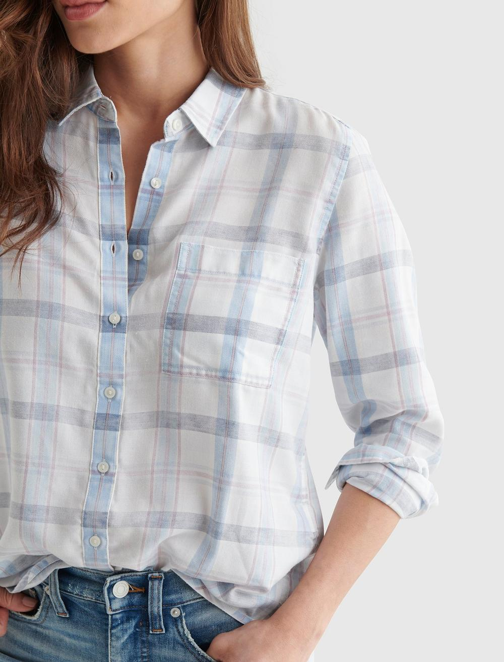 RELAXED-FIT PLAID WOVEN SHIRT, image 4