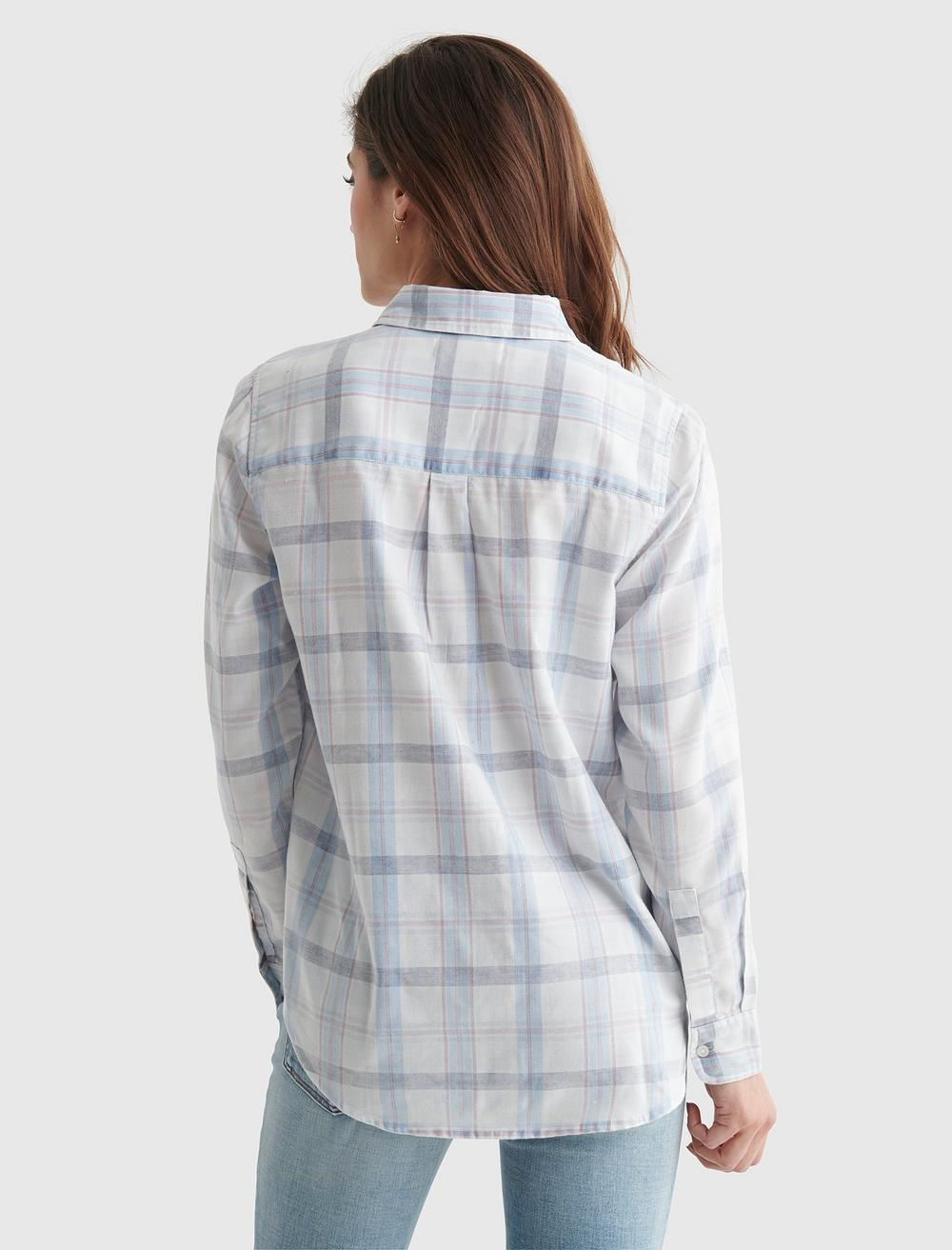 RELAXED-FIT PLAID WOVEN SHIRT, image 5