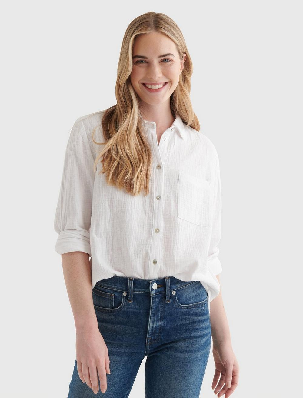 RELAXED-FIT POCKET WOVEN SHIRT, image 1