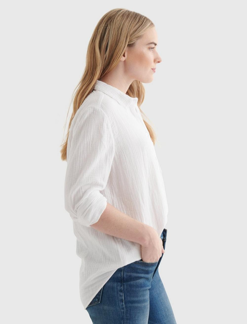 RELAXED-FIT POCKET WOVEN SHIRT, image 4