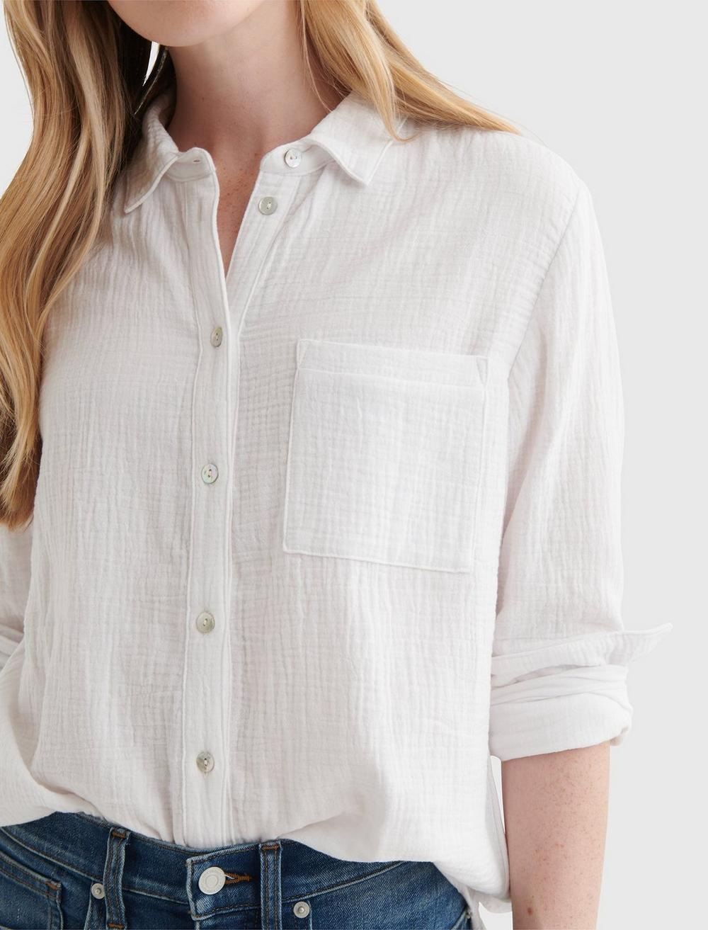RELAXED-FIT POCKET WOVEN SHIRT, image 5