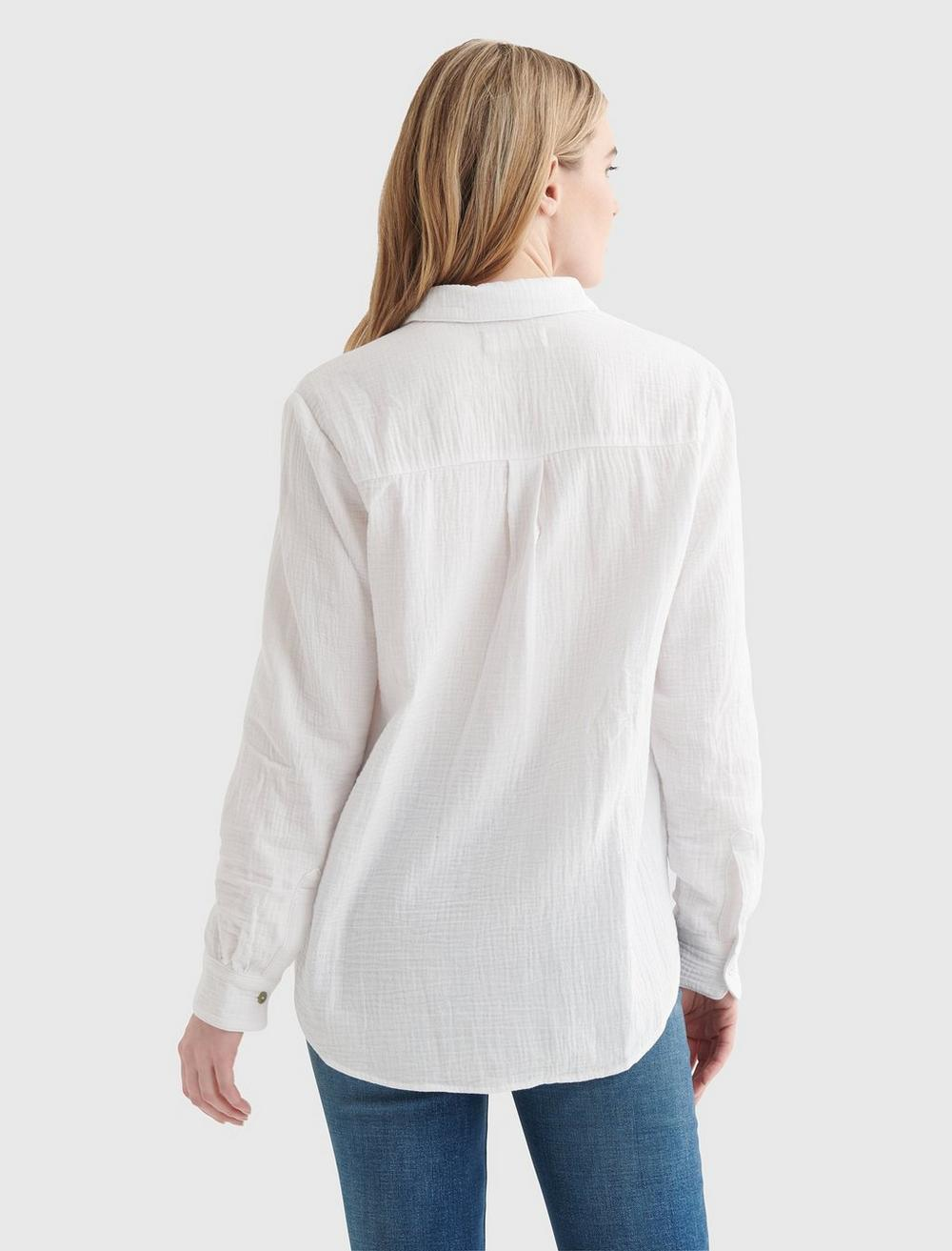 RELAXED-FIT POCKET WOVEN SHIRT, image 6