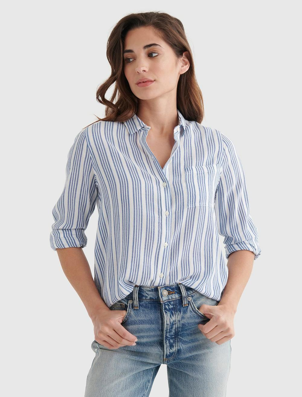CLASSIC STRIPED WOVEN SHIRT, image 1