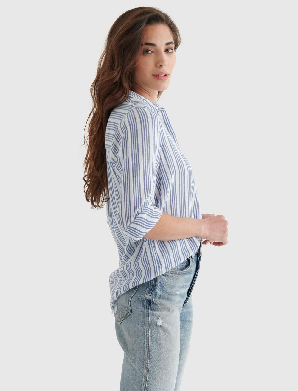 CLASSIC STRIPED WOVEN SHIRT, image 4