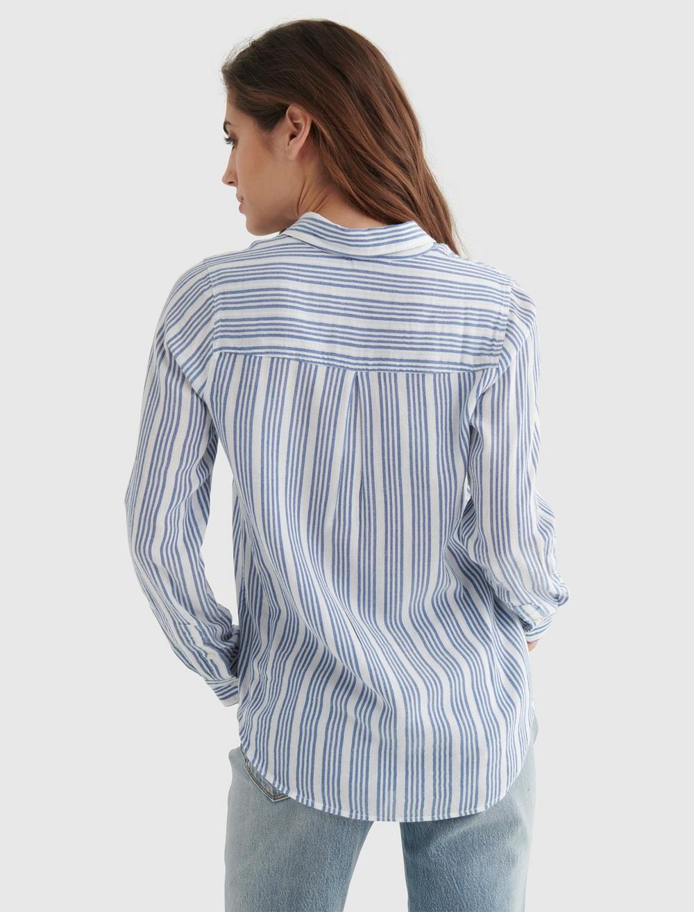 CLASSIC STRIPED WOVEN SHIRT, image 5