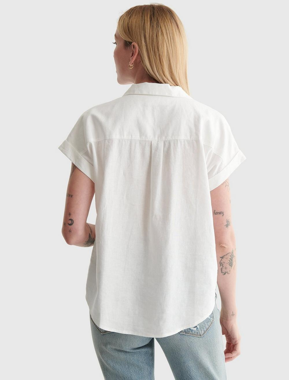 TIE-FRONT SHORT SLEEVE SHIRT, image 4