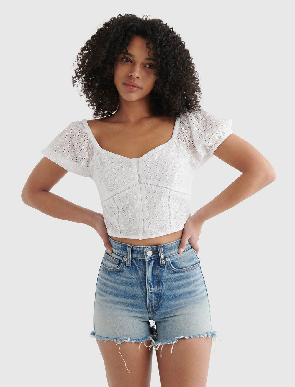 LACE SWEETHEART CROP TOP, image 2