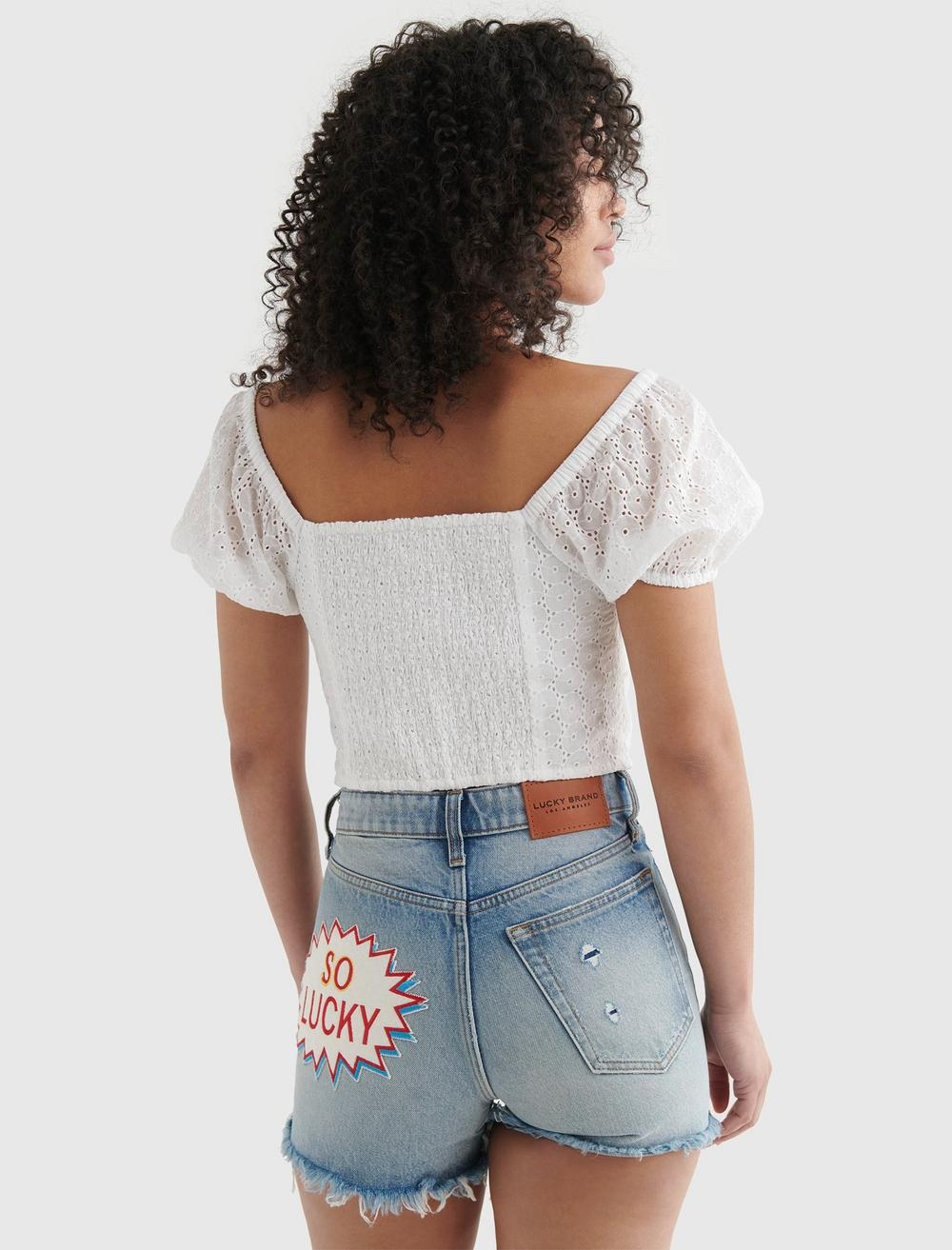 LACE SWEETHEART CROP TOP, image 5