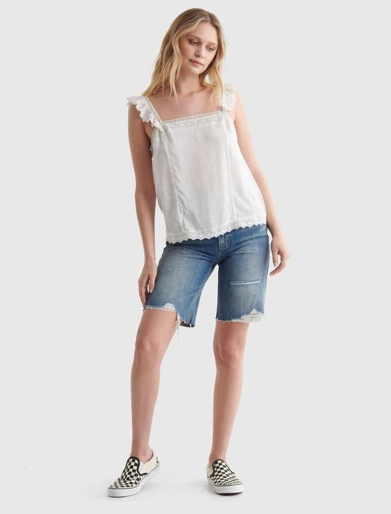 SQUARE NECK EYELET TANK, BRIGHT WHITE, productTileDesktop