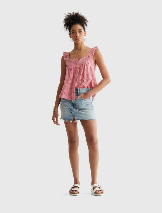 EMBROIDERED TANK, BRANDIED APRICOT, productTileDesktop