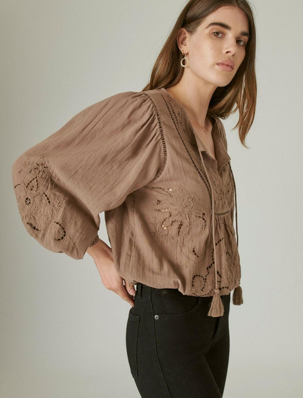 EMBROIDERED PEASANT BLOUSE, image 3