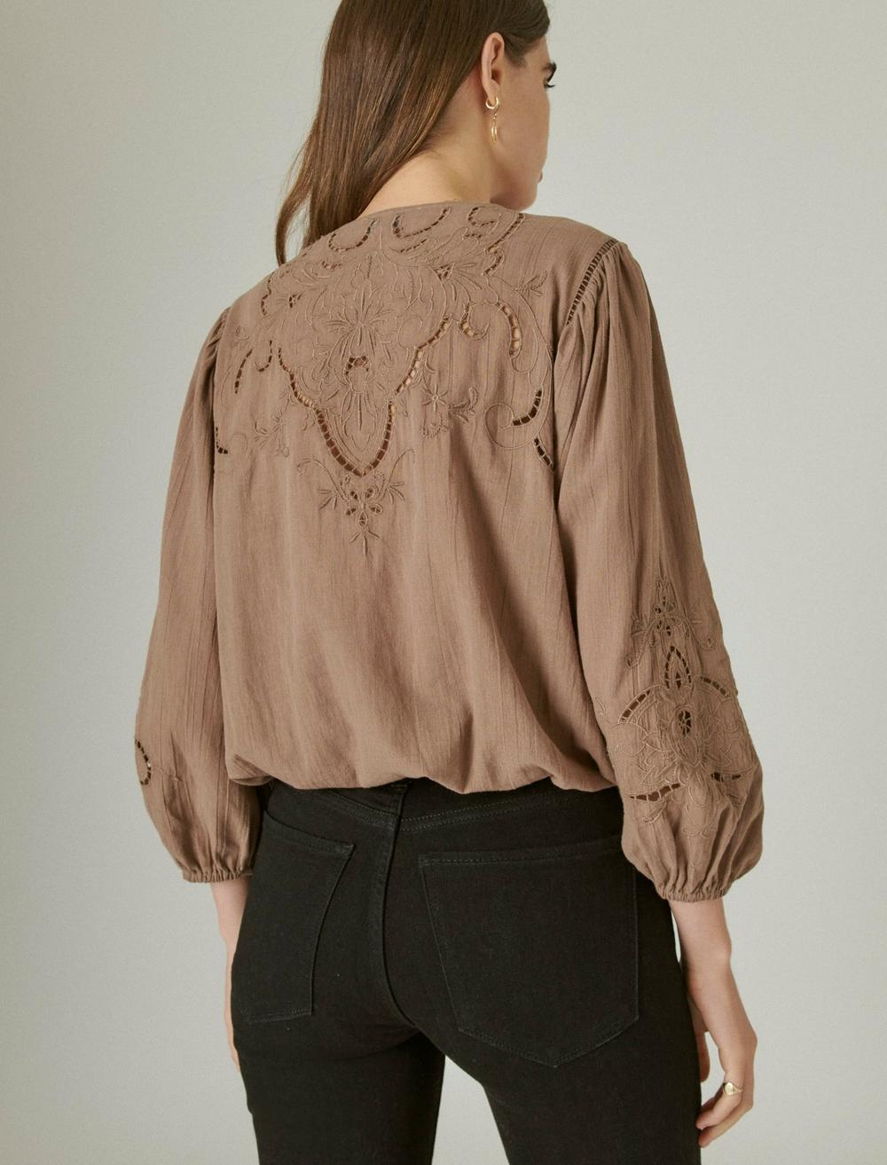 EMBROIDERED PEASANT BLOUSE, image 4