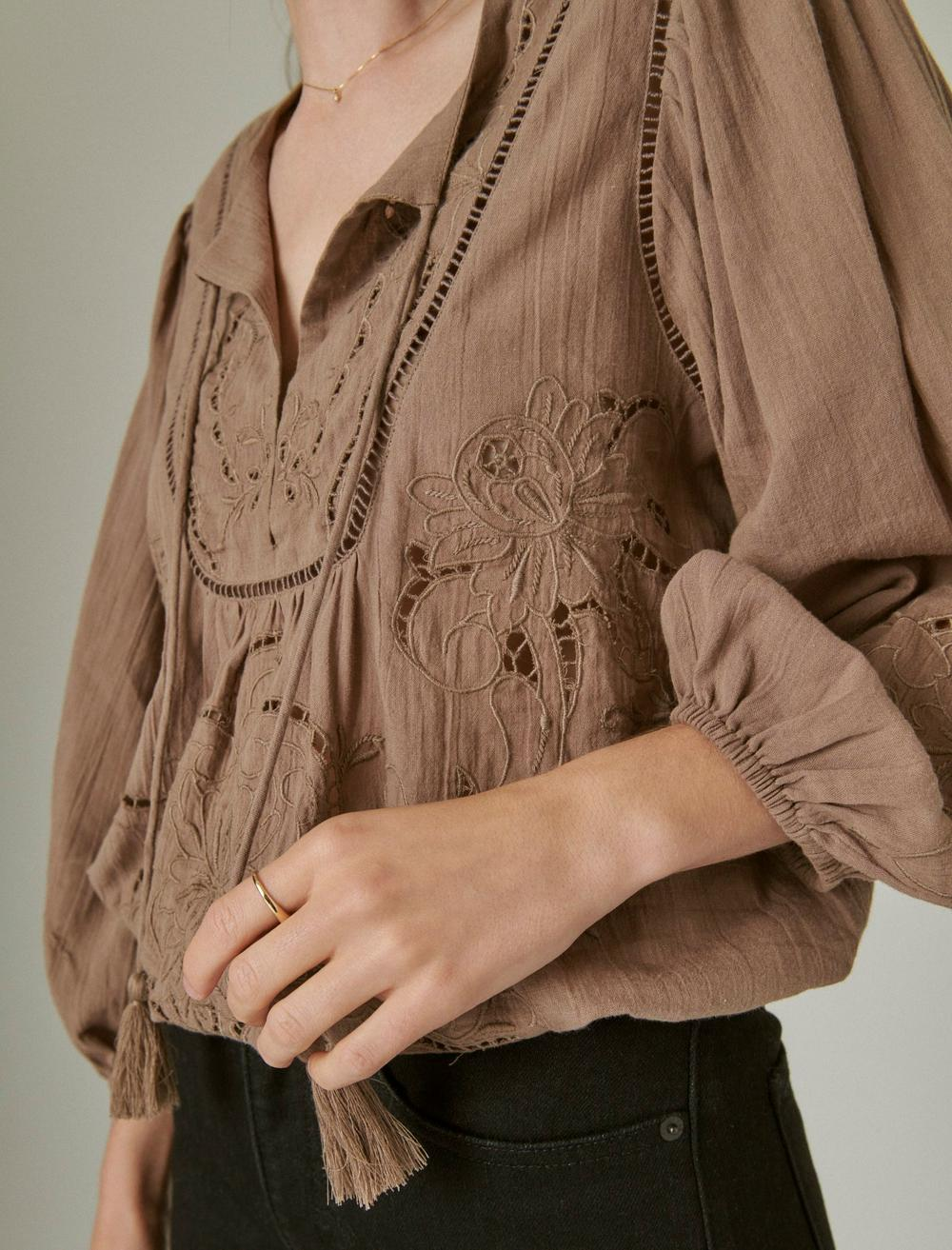EMBROIDERED PEASANT BLOUSE, image 5