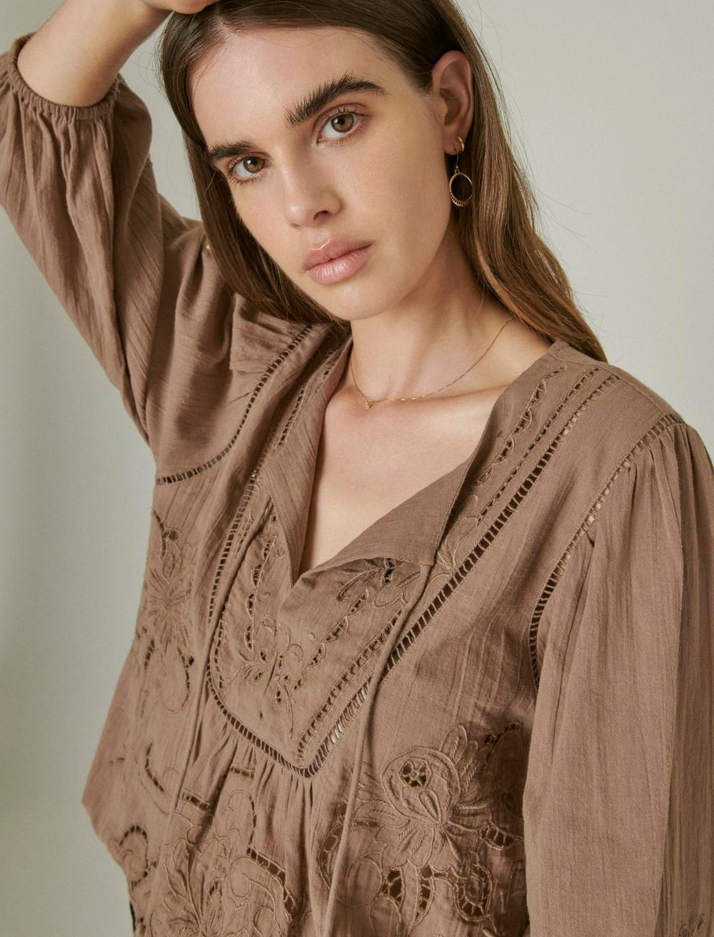 EMBROIDERED PEASANT BLOUSE, image 6