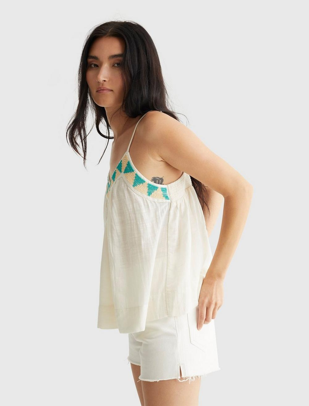 LIMITED EDITION BEADED FLOWY CAMI, image 3
