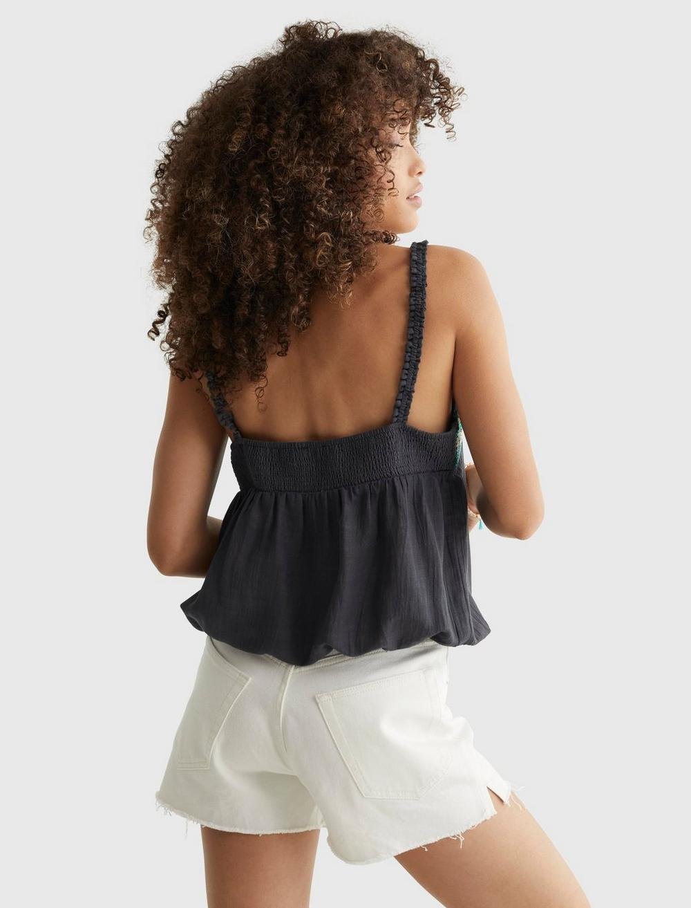 LIMITED EDITION BEADED SQUARE NECK CAMI, image 4