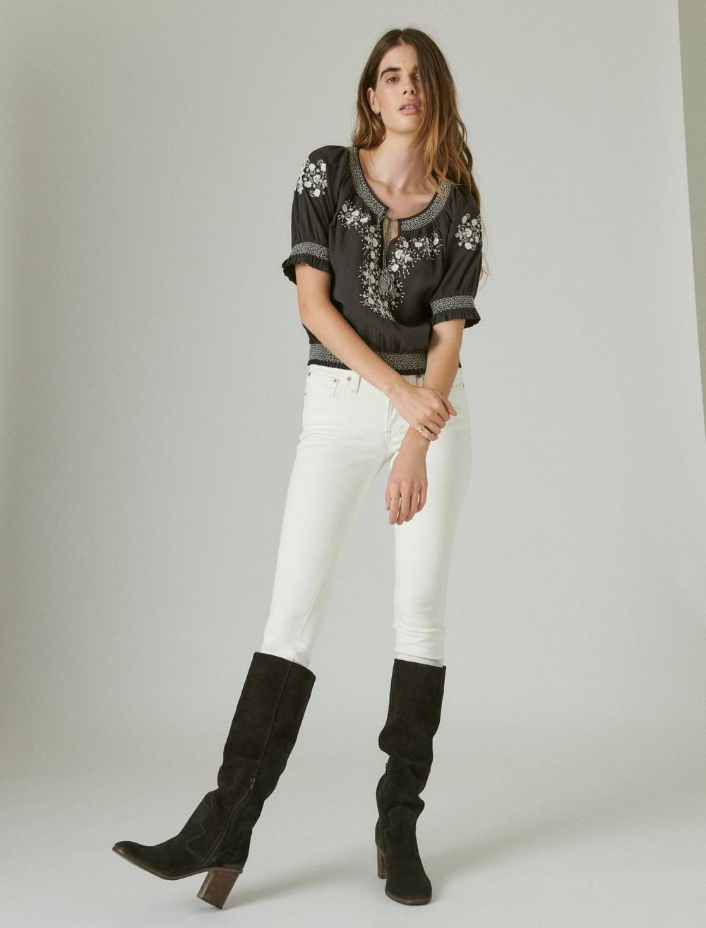 EMBROIDERED SHORT SLEEVE TOP, image 2