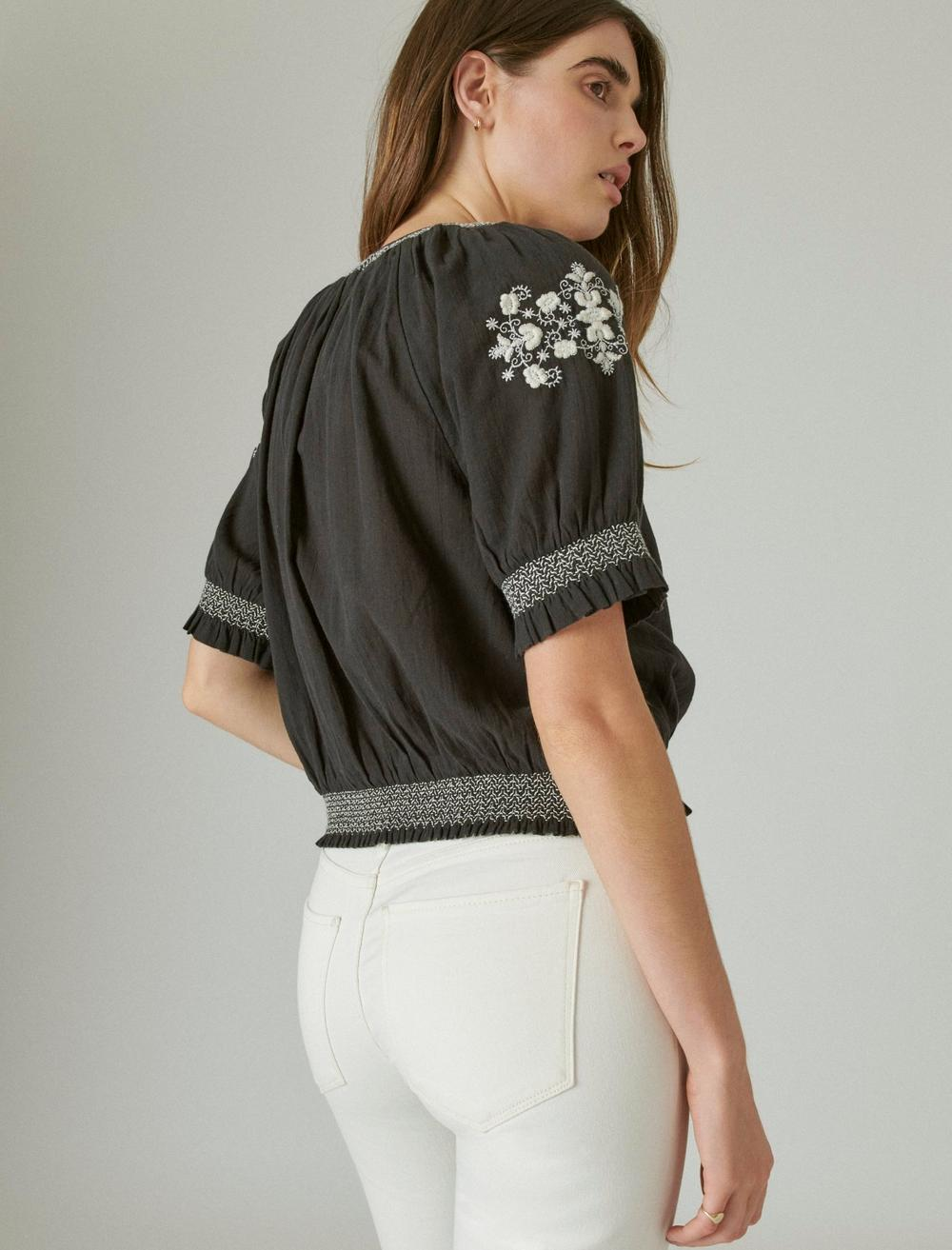 EMBROIDERED SHORT SLEEVE TOP, image 4