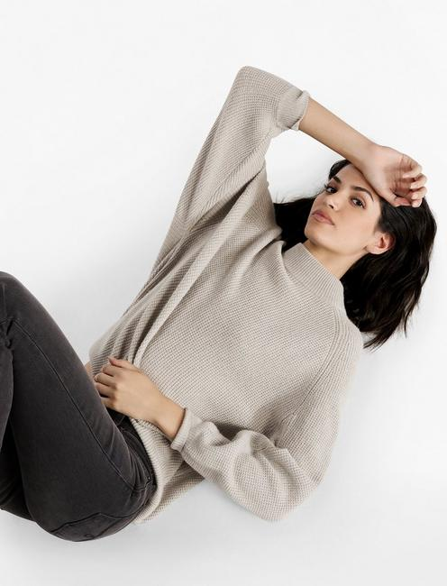 DOLMAN SLEEVE PULLOVER, SILVERPOINT