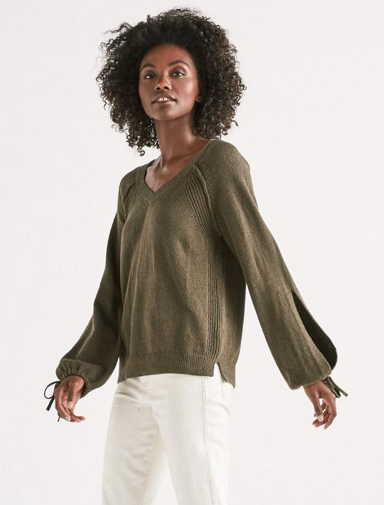 TIE SLEEVE PULLOVER, FOREST NIGHT, productTileDesktop